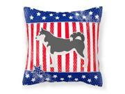 USA Patriotic Siberian Husky Fabric Decorative Pillow BB3380PW1414 9SIV06W69B5470