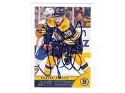 Daniel Paille autographed hockey card (Boston Bruins) 2013 Score No.34 9SIV06W69V4763