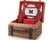 Picnic Time 208-40-100-334-0 Miami University Redhawks Digital Print Champion Picnic Basket, Red 9SIV06W69V0124