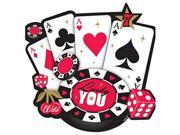 Amscan 190139 Place Your Bets Casino Cutout - Pack of 12 9SIV06W6951184