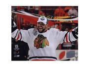 Photofile PFSAAML12701 Dustin Byfuglien with Chicago Blackhawks Flag 2010 Stanley Cup Finals - 35 Sports Photo - 10 x 8 9SIV06W69A4289