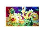 Custom Printed Rugs DM  39 Summer Sunflower Door Mat
