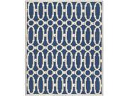 Safavieh NPT434C-6 Newport Hand Hooked Medium Rectangle Rug, Royal Blue - White, 5 ft. 6 in. x 8 ft. 6 in. 9SIV06W6960489