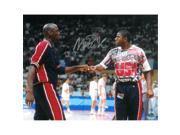 Athlon CTBL-016350 Magic Johnson Signed Team USA Olympic Dream Team Photo - Fist Bump with Michael Jordan - PSA Hologram - 16 x 20 9SIV06W69V0109
