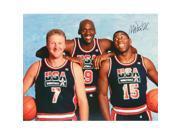 Magic Johnson Signed 1992 USA Dream Team 16 x 20 Photo With Michael Jordan & Larry Bird 9SIV06W69V6836