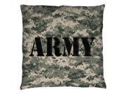 Trevco AR135-PLO3-20x20 Army & Camo Throw Pillow, White - 20 x 20 in. 9SIV06W69J1815