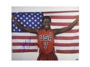 Athlon CTBL-013972 Sheryl Swoopes Signed Photo Team USA Olympics with US Flag 3X Gold - Wnba Basketball - 16 x 20 9SIV06W6A33227
