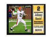 Encore Select 521-96 12 x 15 in. Johnny Manziel Cleveland Browns Stat Plaque 9SIV06W6A75619