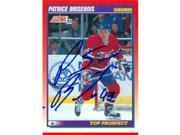 Autograph Warehouse 63462 Patrice Brisbois Autographed Hockey Card Montreal Canadiens 1991 Score No. 272 9SIV06W6A17730