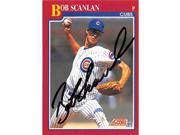 Autograph Warehouse 248481 Bob Scanlan Autographed Baseball Card - Chicago Cubs 1991 Score - No. 102T 9SIV06W69Z3621