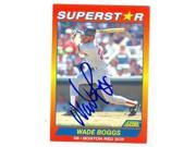 Wade Boggs autographed baseball card (Boston Red Sox) 1992 Score Superstar No.30 9SIV06W6A37341