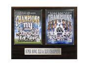 CandICollectables 1620NYGSB2 NFL 16 x 20 in. New York Giants Super Bowls XLII & XLVI Champions Plaque 9SIV06W69Z4845