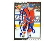 Autograph Warehouse 63627 Mark Recchi Autographed Hockey Card Montreal Canadiens 1996 Score No. 26 9SIV06W6A63794