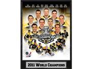 Encore Select 513-35 2011 Boston Bruins Stanley Cup Championship Photograph Nested on a 9 x 12 in. Plaque 9SIV06W6A75216