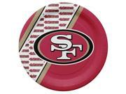 San Francisco 49ers Disposable Paper Plates 9SIV06W69Z4685