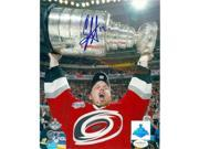 Autograph Warehouse 73540 Eric Staal Autographed 8 x 10 Photo Carolina Hurricanes Image No . 3 Stanley Cup Jsa Authentication Hologram 9SIV06W69Y9406