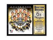 Encore Select 523-35 2011 Boston Bruins Stanley Cup Championship 12 x 15 Stat Plaque 9SIV06W6A75632
