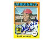 Bake McBride autographed baseball card (St Louis Cardinals) 1975 Topps No.174 All Star Rookie Cup 9SIV06W6A88138