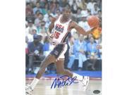 Athlon CTBL-014721 Magic Johnson Signed Team USA Olympic Dream Team Photo Dribble - 16 x 20 9SIV06W6A00913