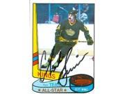Autograph Warehouse 56353 Charlie Simmer Autographed Hockey Card Los Angeles Kings 1980 Topps All Star No .83 9SIV06W6A16017