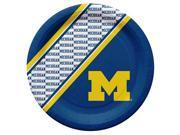 Michigan Wolverines Disposable Paper Plates 9SIV06W69Z4593