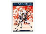 Jeremy Roenick autographed hockey card (Chicago Blackhawks) 1992 Score No.422 The Franchise 9SIV06W6A37988