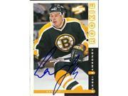 Autograph Warehouse 55493 Sergei Samsonov Autographed Hockey Card Boston Bruins 1997 Score No .59 9SIV06W6A15531