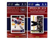 CandICollectables CANADIENS13 NHL Montreal Canadiens Licensed 2013-14 Score Team Set & All-Star Set 9SIV06W69Z6301