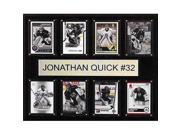 CandICollectables 1215QUICK8C NHL 12 x 15 in. Jonathan Quick Los Angeles Kings 8-Card Plaque 9SIV06W69Z5830