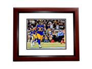 Real Deal Memorabilia TGurley11x14-1MF Todd Gurley Signed - Autographed St. Louis Rams - Los Angeles Rams 11 x 14 in. Photo Mahogany Custom Frame - Super Bowl X 9SIV06W6A03877