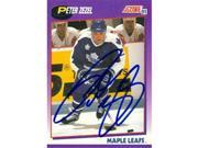 Autograph Warehouse 56803 Peter Zezel Autographed Hockey Card Toronto Maple Leafs 1991 Score No .269 9SIV06W6A64687
