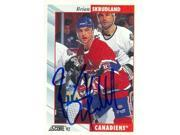 Autograph Warehouse 63574 Brian Skrudland Autographed Hockey Card Montreal Canadiens 1992 Score No. 136 9SIV06W69Y6834