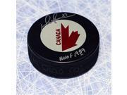 Darryl Sittler Team Canada Autographed 1976 Canada Cup Hockey Puck 9SIV06W6A08160