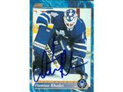 Autograph Warehouse 56730 Damian Rhodes Autographed Hockey Card Toronto Maple Leafs 1994 Score No .604 9SIV06W69Y3188