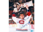 Autograph Warehouse 244408 Guy Carbonneau Autographed 8 x 10 in. Photo - Montreal Canadiens Image - No. SC4 Inscribed Stanley Cup Champions Captain 9SIV06W6A24546