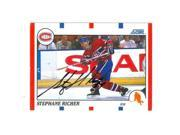 Autograph Warehouse 63629 Stephane Richer Autographed Hockey Card Montreal Canadiens 1990 Score No. 75 9SIV06W6A63553