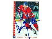 Autograph Warehouse 63567 Vincent Damphousse Autographed Hockey Card Montreal Canadiens 1993 Score No. 244 9SIV06W69Y6848