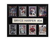 CandICollectables 1215HARPER8C MLB 12 x 15 in. Bryce Harper Washington Nationals 8-Card Plaque 9SIV06W6A74407