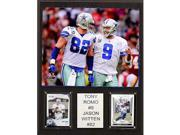 CandICollectables 1215ROMOWITCOM NFL 12 x 15 in. Tony Romo & Jason Witten Dallas Cowboys Player Plaque 9SIV06W69Z6545