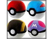 Tomy T18852D 5 in. Pokemon High Quality Materials Plush Poke Balls, 6 Piece 9SIV06W6A28624