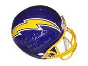 Athlon CTBL-017876 Kellen Winslow Signed San Diego Chargers TB Replica Helmet Dual HOF 95 & 5 Time Pro Bowl - Full Size 9SIV06W6A32472