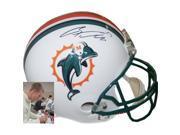 Athlon CTBL-012512 Ryan Tannehill Signed Miami Dolphins TB Old Logo Full Size Riddell Replica Helmet - Tannehill Hologram 9SIV06W6A01866