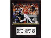CandICollectables 1215BHARPER MLB 12 x 15 in. Bryce Harper Washington Nationals Player Plaque 9SIV06W6A74292