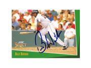 Autograph Warehouse 245991 Billy Hatcher Autographed Baseball Card - Boston Red Sox 1993 Score - No. 225 9SIV06W6A24720