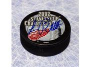 AJ SportsWorld ROBL106051 Luc Robitaille Detroit Red Wings Autographed 2002 Stanley Cup Puck 9SIV06W6A61519