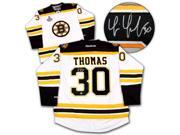 AJ Sports World THOT102002 TIM THOMAS Boston Bruins SIGNED 2011 Stanley Cup Hockey JERSEY 9SIV06W6A59732