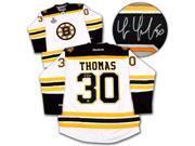 AJ Sports World THOT102002 TIM THOMAS Boston Bruins SIGNED 2011 Stanley Cup Hockey JERSEY 9SIA00Y6EV5869