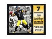Encore Select 521-73 12 x 15 Plaque - Ben Roethlisberger Pittsburgh Steelers 9SIV06W6A75076