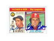 Autograph Warehouse 30987 Bob Boone Ray Boone Autographed Baseball Card 1976 Topps Father Son Baseball Card Phillies Tigers 9SIV06W6A65663