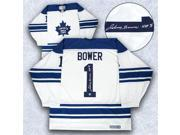 AJ SportsWorld BOWJ10400A Johnny Bower Toronto Maple Leafs Signed White 1967 Stanley Cup Retro Ccm Jersey 9SIV06W6A62109